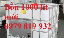 Bán thùng nhựa vuông 1000l chứa hóa chất mới 90%