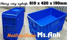 Thùng nhựa cao 19, thùng nhựa nguyên sinh đóng linh kiện