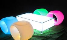Quầy bar phát sáng led, led phát sáng Cube, bàn led phát sáng