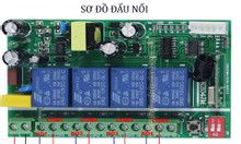 Rơ le điều khiển 4 kênh từ xa bằng remote sóng 433Mhz giá rẻ