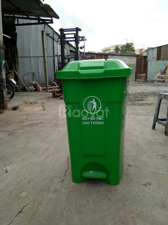Thùng rác công nghiệp 70 lít đạp chân (ảnh 1)