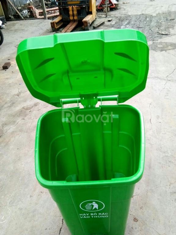 Thùng rác công nghiệp 70 lít đạp chân (ảnh 6)