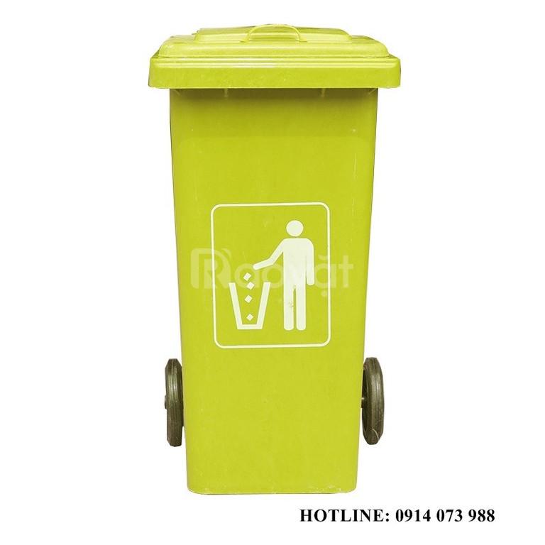 Thùng rác công nghiệp 120l giá rẻ
