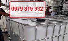 Bán thùng nhựa vuông, bồn nhựa vuông 1000l đã qua sử dụng