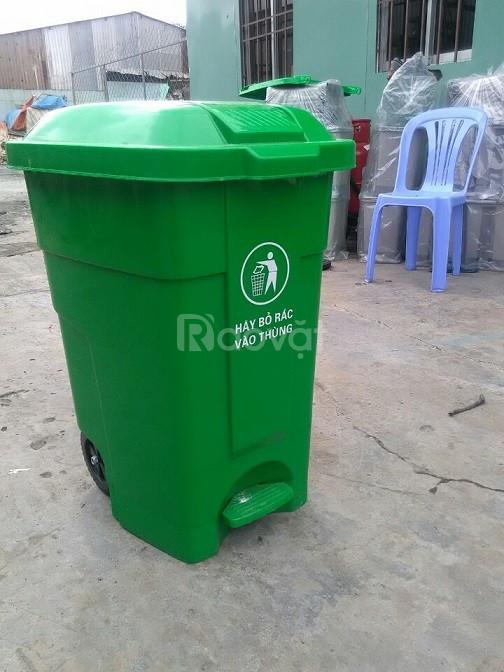 Thùng rác công nghiệp 70 lít đạp chân (ảnh 3)