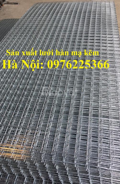 Lưới thép hàn D4 a50x50, D3 a50x50 mạ kẽm