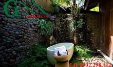 Sỏi rải nền nhà tắm