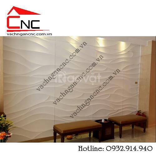 Vách ốp tường gỗ vách cnc 3d tại Health Spa 36-38 Nguyễn Cư Trinh Q1