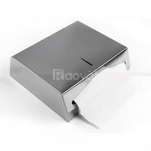 Hộp giấy lau tay treo tường nhà vệ sinh bằng inox, nhựa ABS Vĩnh Long