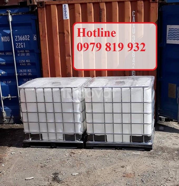 Cung cấp thùng nhựa vuông đựng hóa chất 1000l có khung sắt