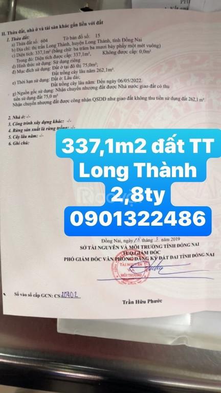 Bán gấp 337m2 thị trấn Long Thành, Đồng Nai
