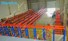 Kệ sắt công nghiệp chứa phuy hàng, pallet sắt, pallet nhựa
