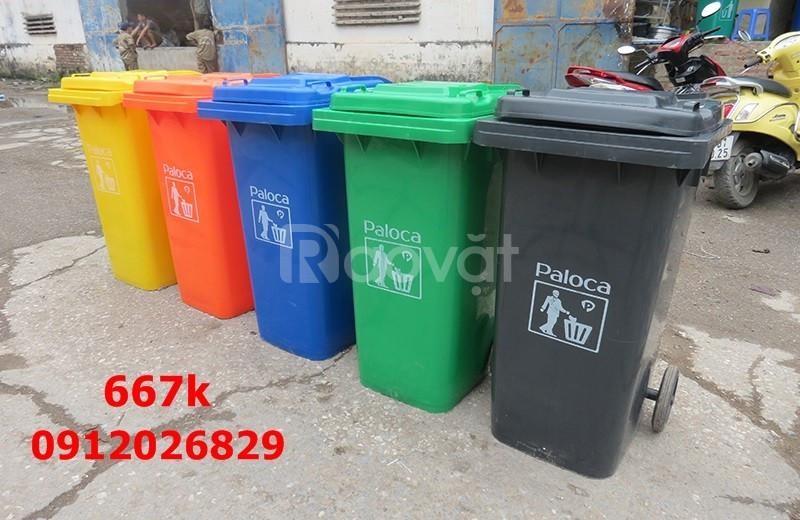 Thùng rác công nghiệp 240 lít giá rẻ