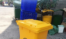 Thùng rác 240 lít dùng ngoài trời.