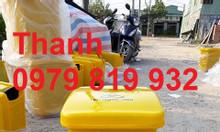 Bán thùng rác đạp chân y tế 20 lít màu xanh màu vàng