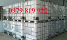 Cung cấp thùng nhựa vuông 1000l, tank nhựa vuông 1 khối mới 100%