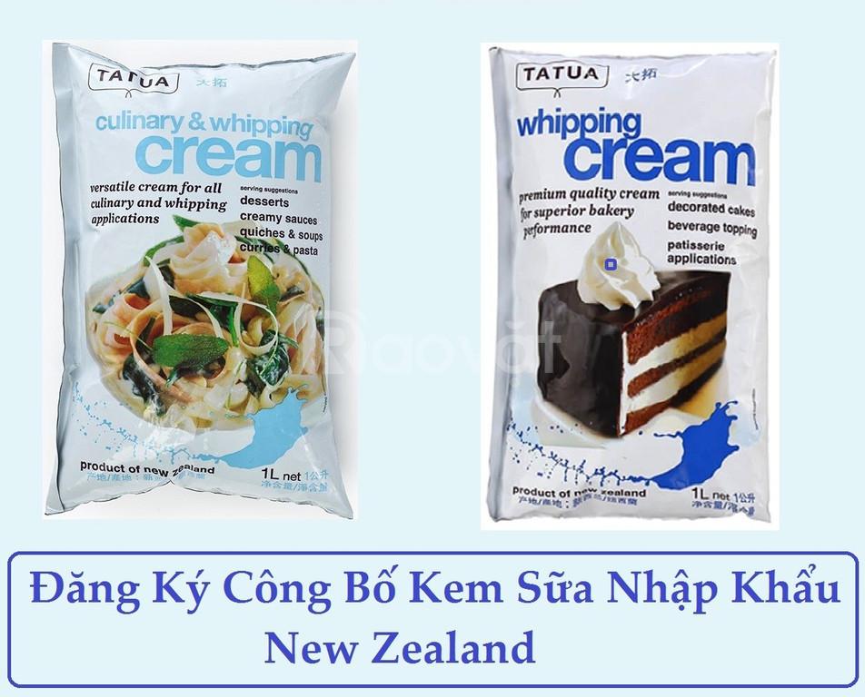 Dịch vụ công bố kem sữa nhập khẩu new zealand