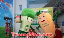 May  gấp mascot trái cây, rau củ, theo thiết kế, có sẵn
