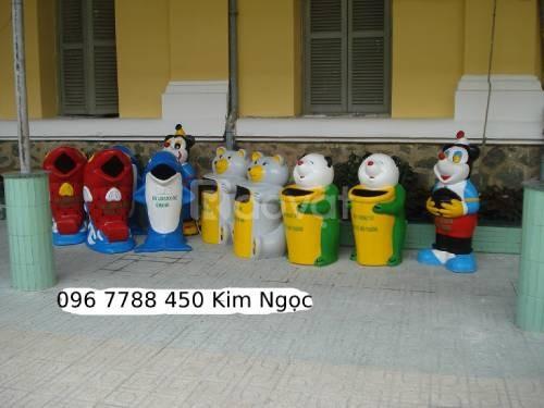 Thùng rác hình thú các loại rẻ giao toàn quốc