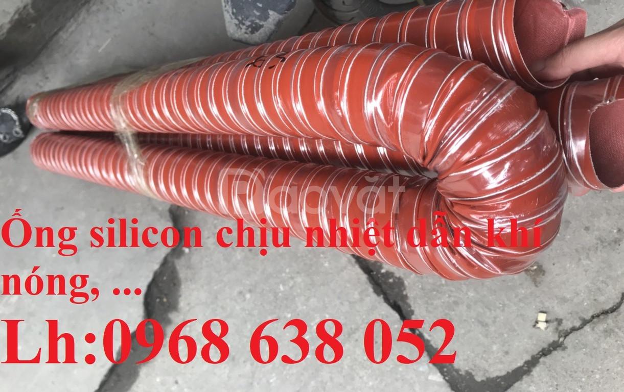Ống silicone màu cam chịu nhiệt D51, D63, D76, D90, D100, D115, D120,
