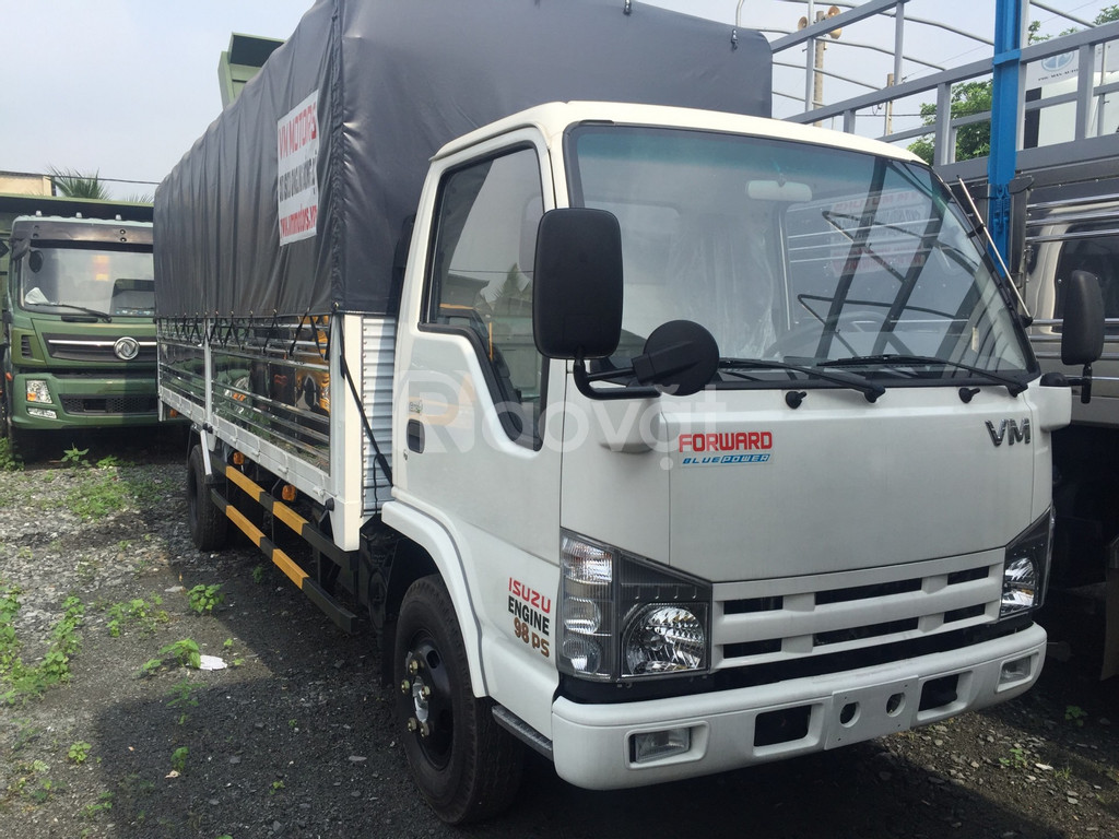 Xe tải Isuzu 1.9 tấn thùng dài 6m2, Isuzu Vĩnh Phát 1t9 giá rẻ