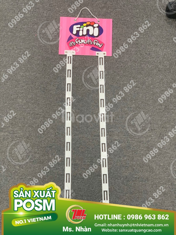 Hanger dây nhựa, hanger quảng cáo, hanger POSM