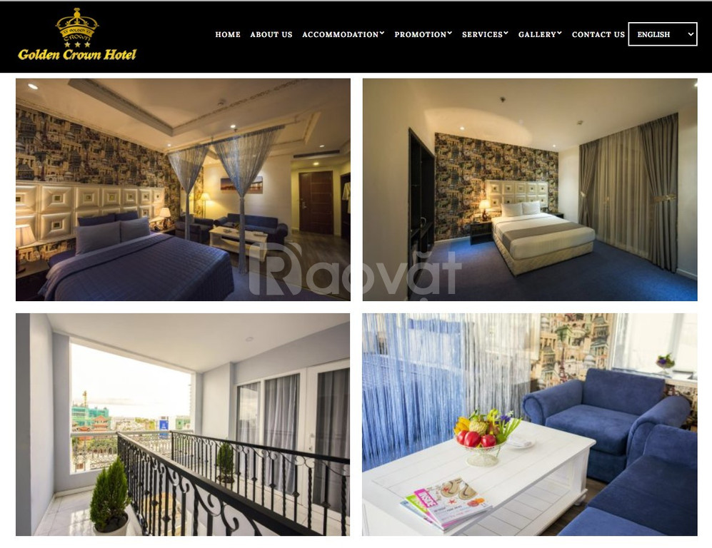 Khách sạn 3 sao quận 1, 3 phòng ngủ Golden Crown