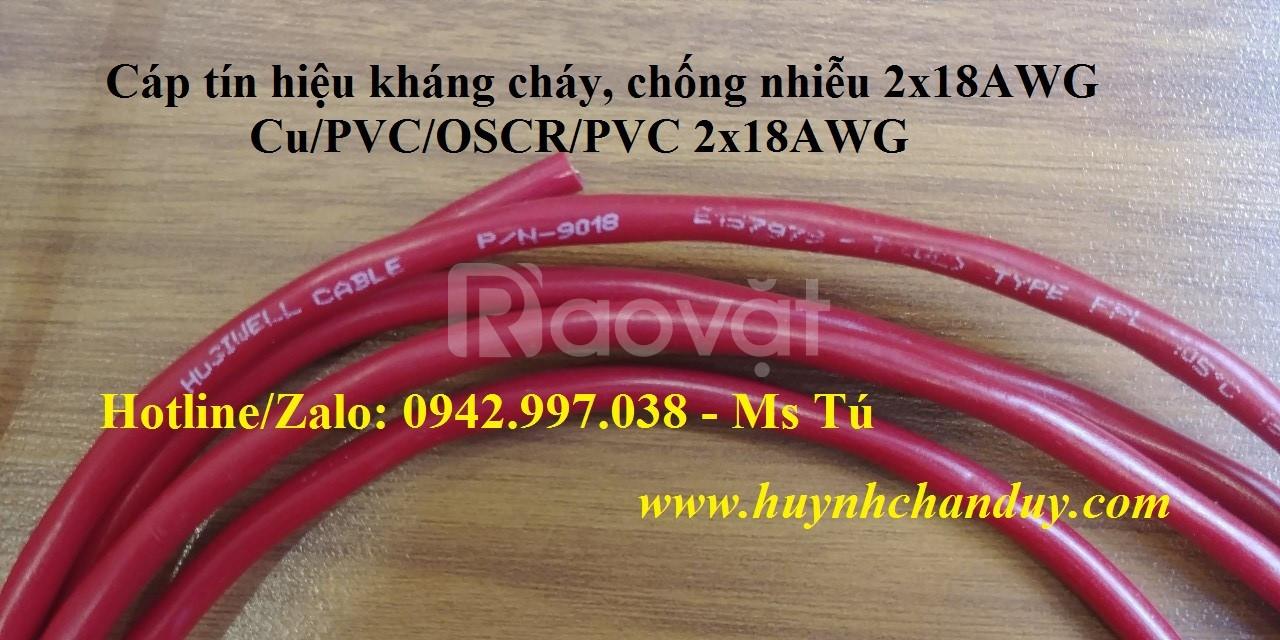 Cáp tín hiệu kháng cháy Hosiwell 1P 18AWG (9018) - Fire Alarm System