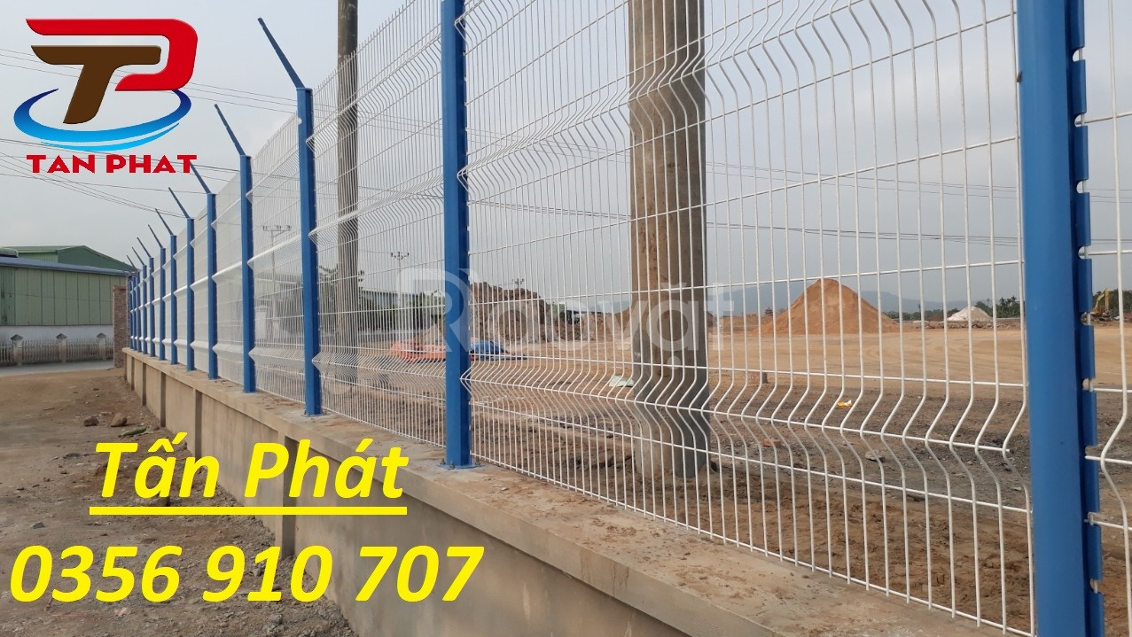 Hàng rào mạ kẽm, hàng rào lưới thép sơn tĩnh điện dây 5ly,6ly