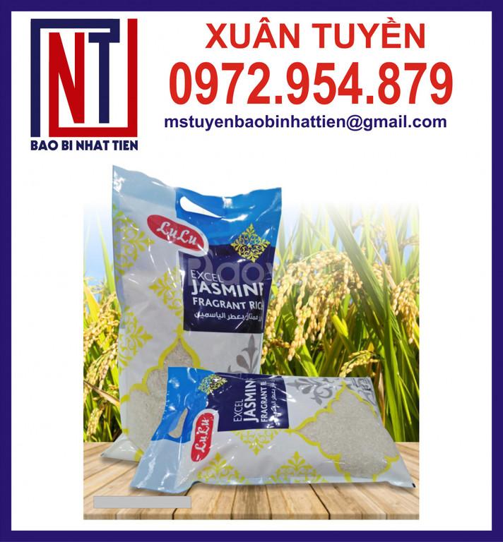 Túi đựng gạo 5kg ghép màng, túi đựng gạo in ống đồng
