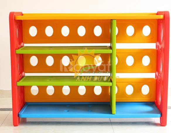 Kệ nhựa đựng học liệu, đồ chơi dành cho trẻ em mầm non