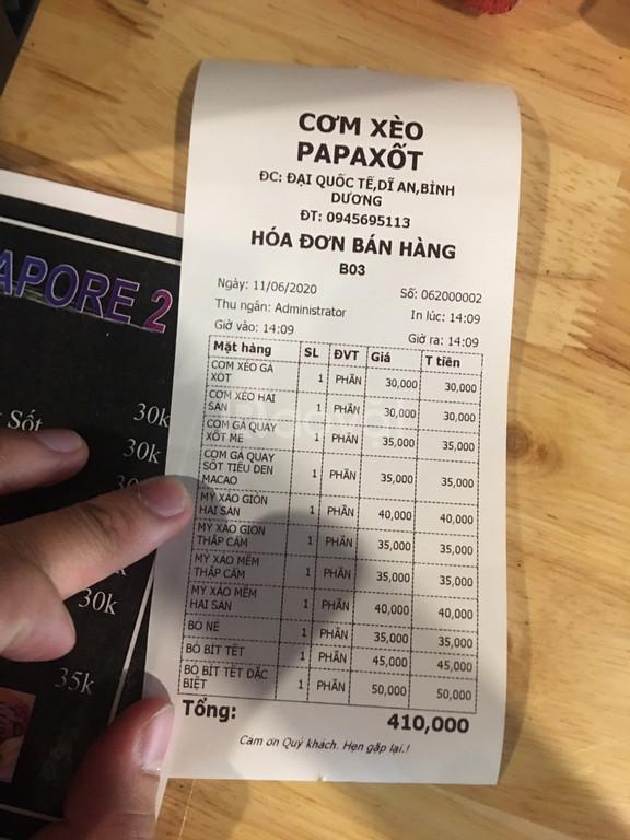Trọn bộ máy tính tiền cho quán cơm, quán ăn vặt...giá rẻ tại BMT