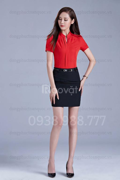 Địa chỉ may đo chân váy nữ công sở cao cấp, form chuẩn