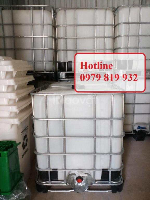 Cung cấp thùng nhựa vuông, tank nhựa vuông đựng hóa chất (ảnh 1)