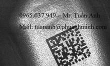 Khắc, in barcode, mã vạch lên inox, kim loại… Quận 9, Quận 2, Thủ Đức…