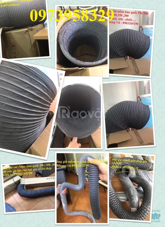 Lắp đặt hệ thống ống gió mềm vải phi 500