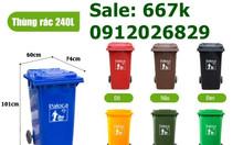 Tổng hợp kích thước thùng rác công cộng (60 lít, 120 lít, 240 lít)