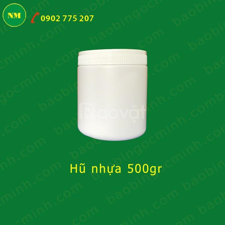 Hủ nhựa 1kg đựng chất vi sinh, đựng chất nông nghiệp.