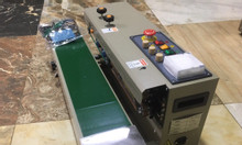 Máy ép miệng túi liên tục FRD1000, máy ép túi có in ngày tháng, máy ép
