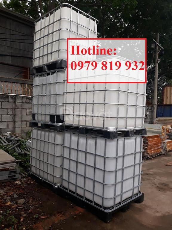 Bán thùng bồn nhựa đựng hóa chất 1000l mới 100%, tank nhựa vuông
