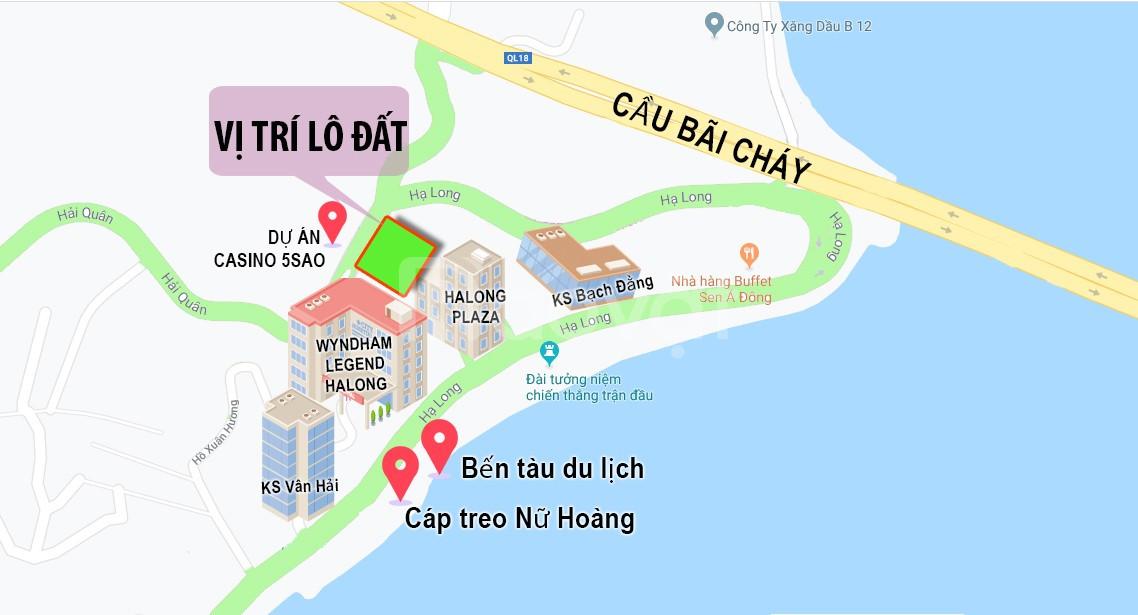 Đất chính chủ SĐ 610m2 mặt đường Hải Quân, Hạ Long giá rẻ