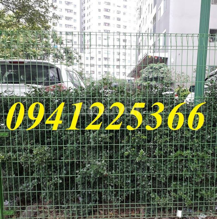 Hàng rào mạ kẽm sơn tĩnh điện, lưới hàng rào công trình