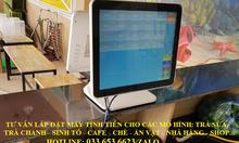 Trọn bộ máy pos 2 màn hình cho quán trà chanh