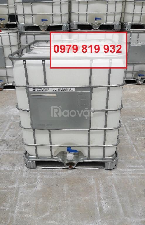 Bán tank nhựa vuông 1000l chứa hàng tank nhựa IBC 1000l có khung sắt (ảnh 4)