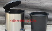 Bán thùng rác Inox đạp chân 12L giá rẻ