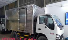 isuzu 1T5, thùng Kín 3.6m, KM máy lạnh, 12 phiếu bảo dưỡng...