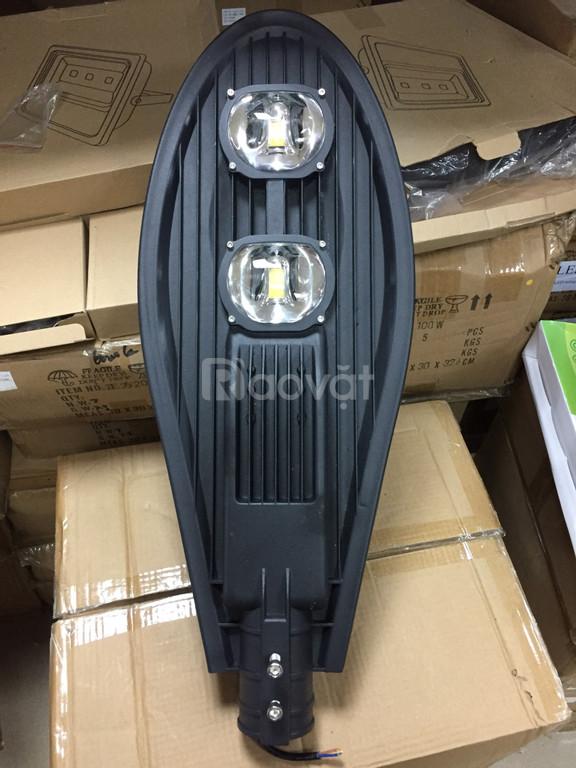 Đèn đường LED lá 100w vỏ đen