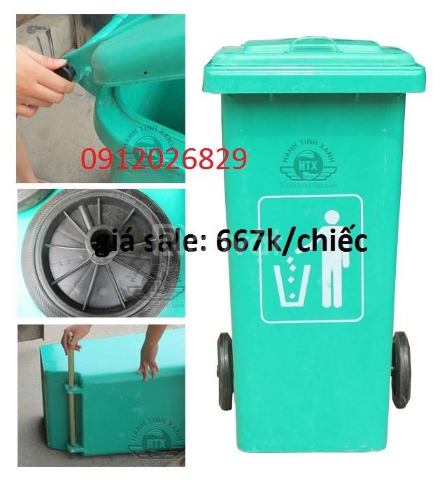 Báo giá thùng rác 240l