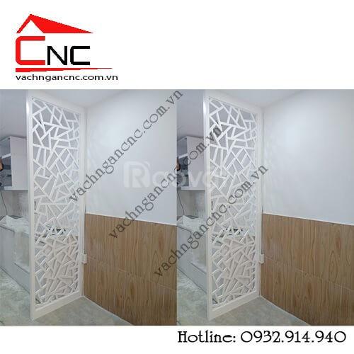 Phòng khách - nơi lý tưởng dùng mẫu vách ngăn gỗ cnc (ảnh 5)