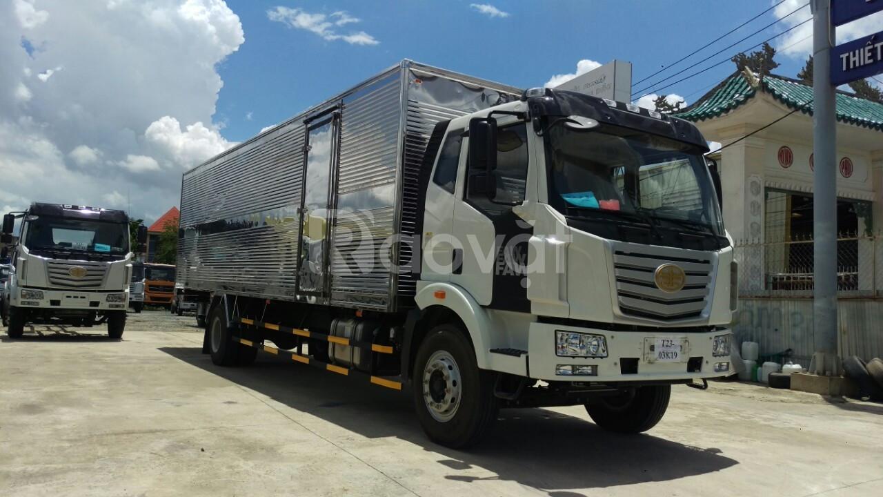Xe tải faw 7.2 tấn thùng kính 9m7 chở bao bì giấy | Hỗ trợ trả góp